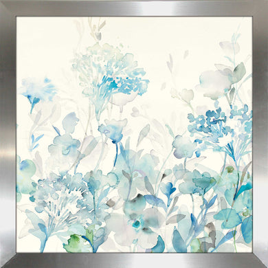Translucent Garden Blue II Print on Acrylic Floral,Blue art,Square Shape,All Acrylic Art,Danhui Nai,All Subjects,All Colors,All Shapes,All Artists