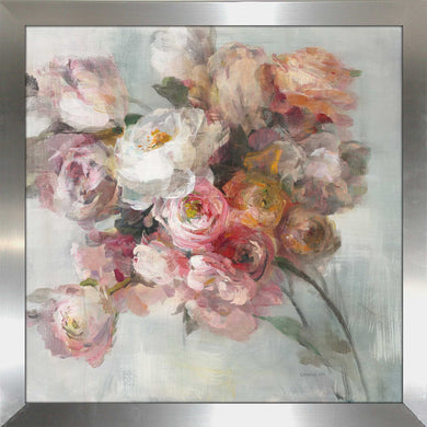 Blush Bouquet Print on Acrylic Floral,Gray art,Square Shape,All Acrylic Art,Danhui Nai,All Subjects,All Colors,All Shapes,All Artists