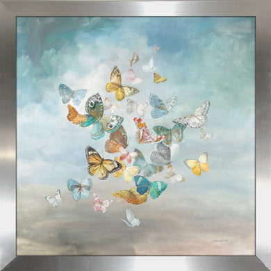 Beautiful Butterflies Print on Acrylic Animals,Blue art,Square Shape,All Acrylic Art,Danhui Nai,All Subjects,All Colors,All Shapes,All Artists