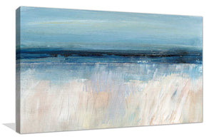 On The Severn I by Susan Jill Print on CanvasAbstract,Blue art, Landscape Shape,Susan Jill,All Canvas Art,All Subjects,All Colors,All Shapes,All Artists