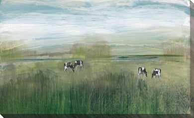 Grazing In Shandelee by Susan Jill Print on CanvasRustic & Country,Green art, Landscape Shape,Susan Jill,All Canvas Art,All Subjects,All Colors,All Shapes,All Artists,Rustic & Country,Animals