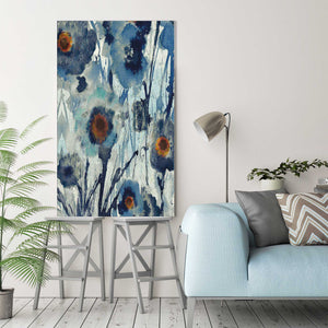 Forget Me Not II by Susan Jill Print on CanvasFloral,Blue art, Portrait Shape,Susan Jill,All Canvas Art,All Subjects,All Colors,All Shapes,All Artists