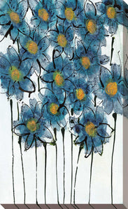 Forget Me Not Bouquet by Susan Jill Print on CanvasFloral,Blue art, Portrait Shape,Susan Jill,All Canvas Art,All Subjects,All Colors,All Shapes,All Artists