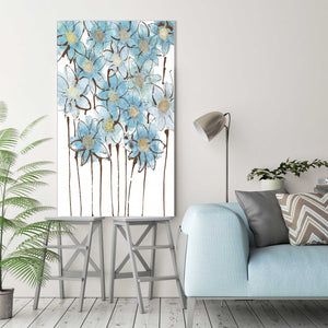 Soft Forget Me Nots by Susan Jill Print on CanvasFloral,Blue art, Portrait Shape,Susan Jill,All Canvas Art,All Subjects,All Colors,All Shapes,All Artists