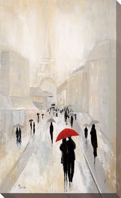 Misty in Paris by Tava Studios Print on CanvasCityscapes,Gray art, Portrait Shape,Tava Studios,All Canvas Art,All Subjects,All Colors,All Shapes,All Artists