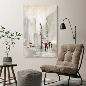 New York Shadows by Tava Studios Print on CanvasCityscapes,Gray art, Portrait Shape,Tava Studios,All Canvas Art,All Subjects,All Colors,All Shapes,All Artists