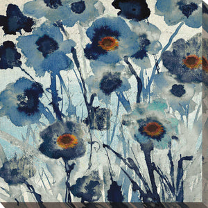 Forget Me Not I by Susan Jill Print on CanvasFloral,Blue art, Square Shape,Susan Jill,All Canvas Art,All Subjects,All Colors,All Shapes,All Artists
