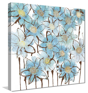 Soft Forget Me Nots by Susan Jill Print on CanvasFloral,Blue art, Square Shape,Susan Jill,All Canvas Art,All Subjects,All Colors,All Shapes,All Artists