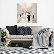 Misty in Paris by Tava Studios Print on CanvasCityscapes,Gray art, Square Shape,Tava Studios,All Canvas Art,All Subjects,All Colors,All Shapes,All Artists
