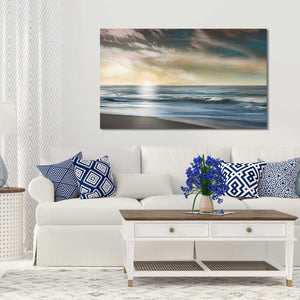 The Promise by Mike Calascibetta Print on CanvasSea and Shore,Blue art, Landscape Shape,Mike Calascibetta,All Canvas Art,All Subjects,All Colors,All Shapes,All Artists