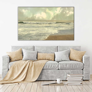 Late Afternoon by Mike Calascibetta Print on CanvasSea and Shore,Gray art, Landscape Shape,Mike Calascibetta,All Canvas Art,All Subjects,All Colors,All Shapes,All Artists