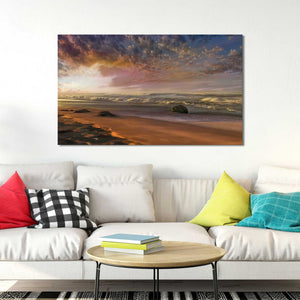 Summer Magic by Mike Calascibetta Print on CanvasSea and Shore,Orange art, Landscape Shape,Mike Calascibetta,All Canvas Art,All Subjects,All Colors,All Shapes,All Artists