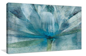 Blue Awakening by Mike Calascibetta Print on CanvasFloral,Blue art, Landscape Shape,Mike Calascibetta,All Canvas Art,All Subjects,All Colors,All Shapes,All Artists
