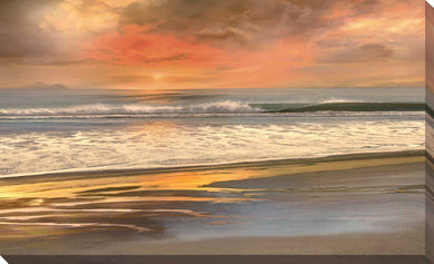 Day's End by Mike Calascibetta Print on CanvasSea and Shore,Yellow art, Landscape Shape,Mike Calascibetta,All Canvas Art,All Subjects,All Colors,All Shapes,All Artists