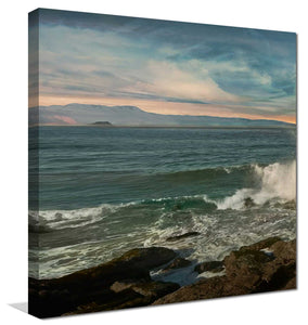 Malibu Crash 1 by Mike Calascibetta Print on CanvasSea and Shore,Blue art, Square Shape,Mike Calascibetta,All Canvas Art,All Subjects,All Colors,All Shapes,All Artists
