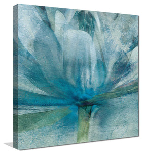 Blue Awakening by Mike Calascibetta Print on CanvasFloral,Blue art, Square Shape,Mike Calascibetta,All Canvas Art,All Subjects,All Colors,All Shapes,All Artists