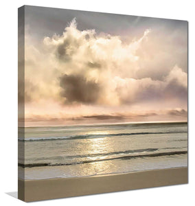 Warm Breezes by Mike Calascibetta Print on CanvasSea and Shore,Gray art, Square Shape,Mike Calascibetta,All Canvas Art,All Subjects,All Colors,All Shapes,All Artists