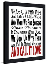 Call It Love  Framed Wall Art
