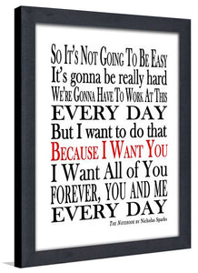 Forever You and Me  Framed Wall Art