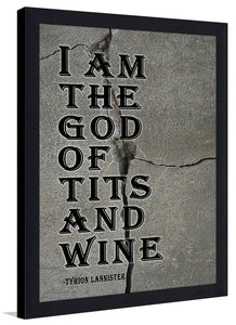 I Am The God  Framed Wall Art