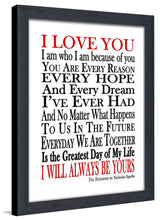 I Will Always Be Yours  Framed Wall Art