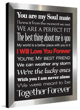I Will Love You Forever  Framed Wall Art