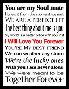 I Will Love You Forever II  Framed Wall Art