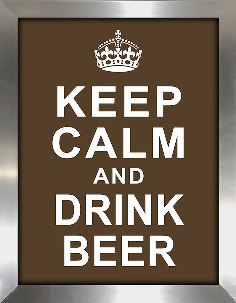 Keep Calm and Drink Beer  Framed Wall Art