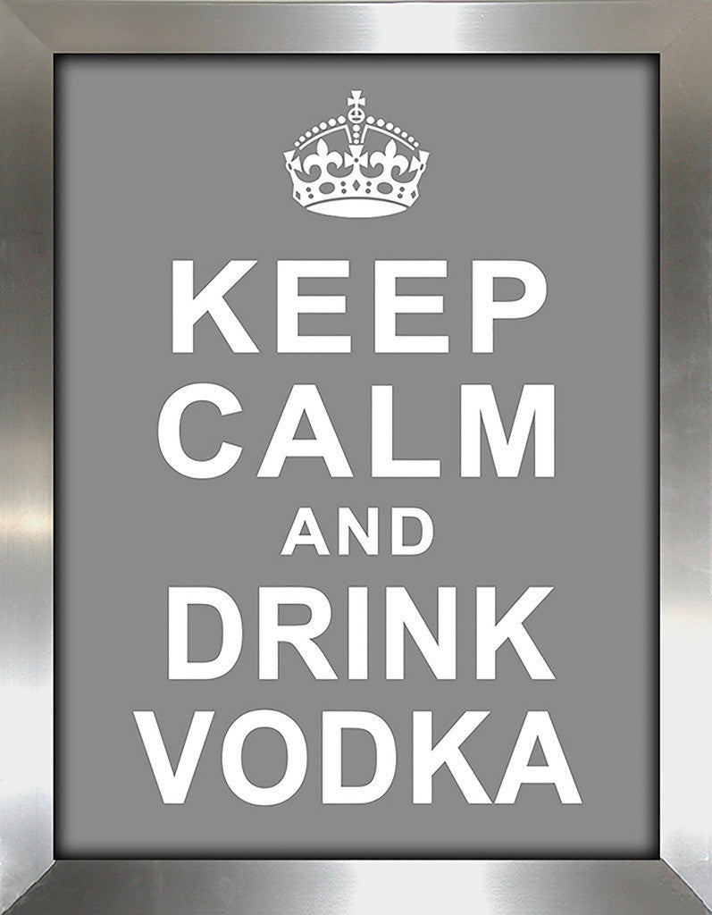 Keep Calm and Drink Vodka  Framed Wall Art