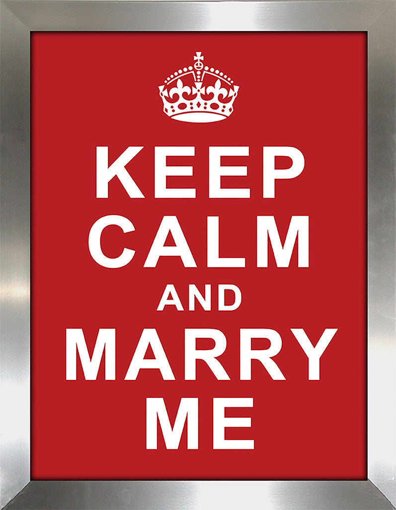 Keep Calm and Marry Me  Framed Wall Art