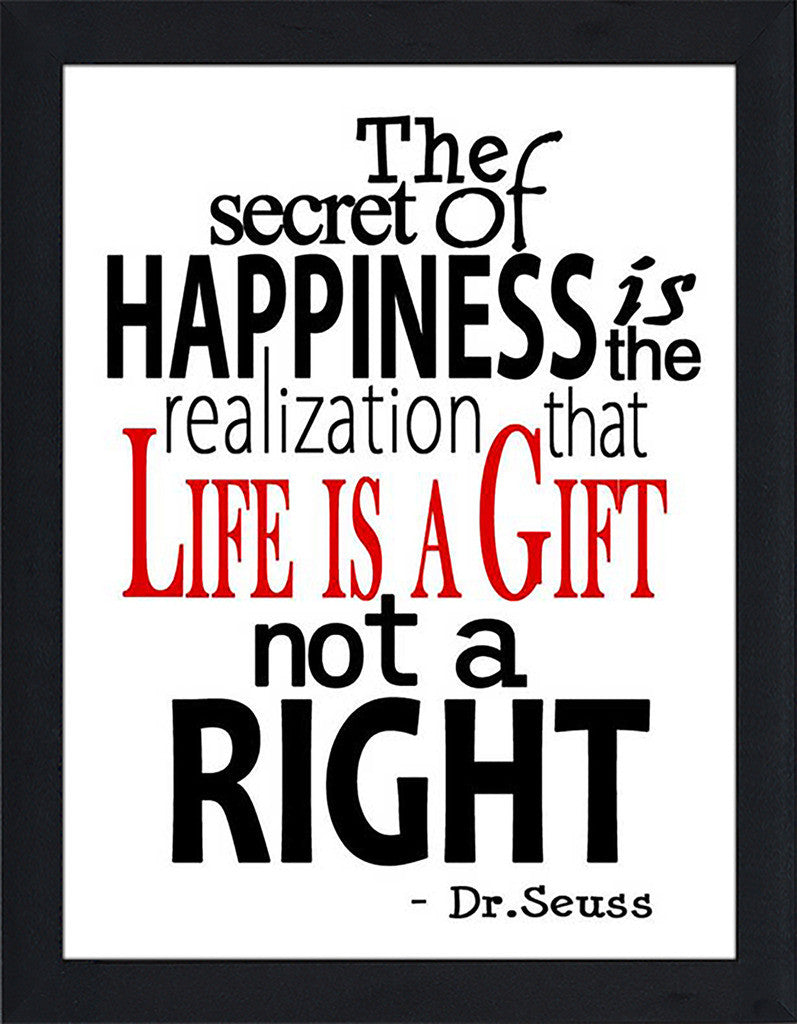 Life Is A Gift  Framed Wall Art