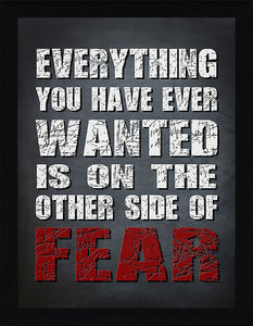 Other Side of Fear  Framed Wall Art