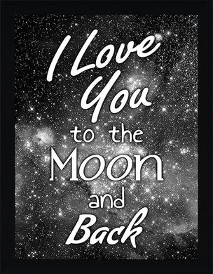 To the Moon and Back  Framed Wall Art