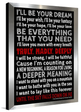 Truly Madly Deeply  Framed Wall Art