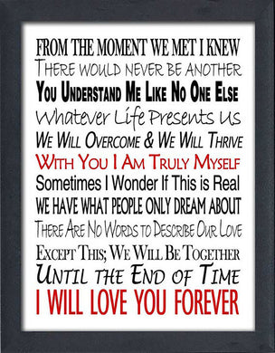 Until The End of Time  Framed Wall Art