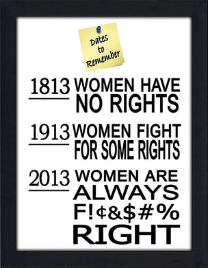 Womens Rights  Framed Wall Art
