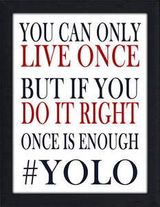 YOLO  Framed Wall Art