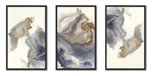 """Approaching"" Set of 3 Print on Canvas in Floating Frame"
