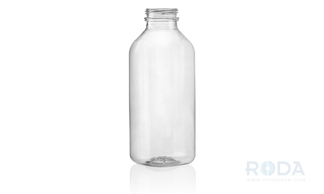 16 oz SQB Clear Juice Square Bottles 38 DBJ