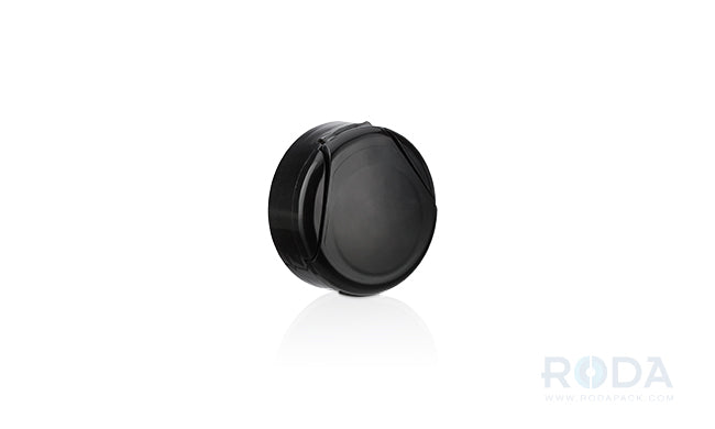 Flip-cap black 38-400; PS-Foam liner