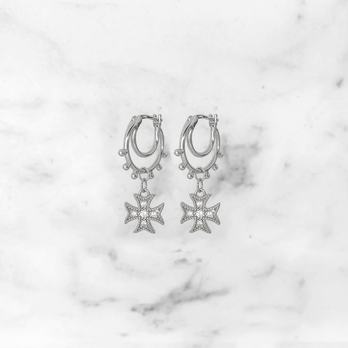 'BOHO' Earrings in Zilver