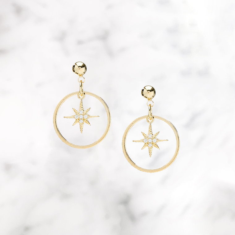 'DAZZLE' Earrings in Goud