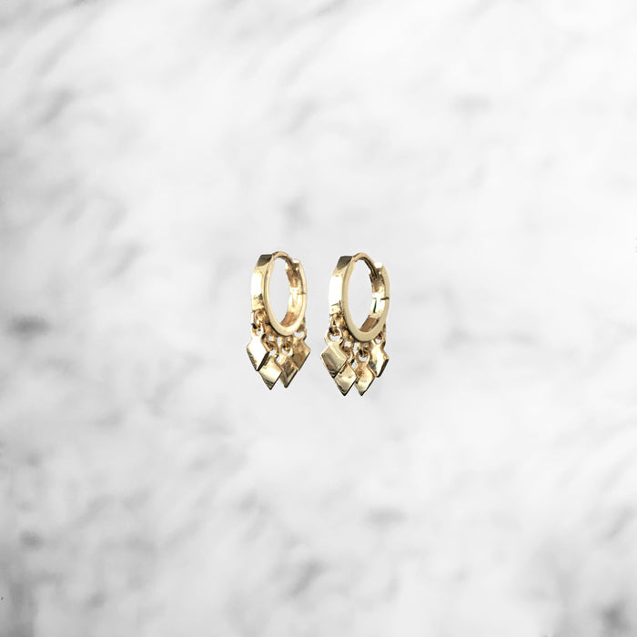 'GALAXY' Earrings in Goud
