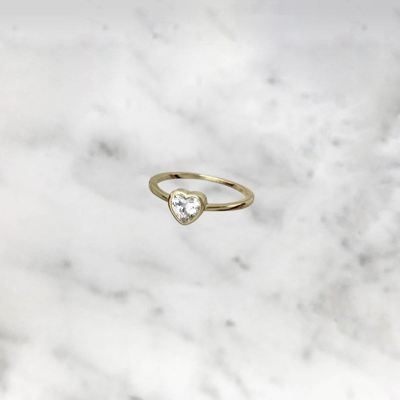 'GLOWY HEART' Ring in Goud