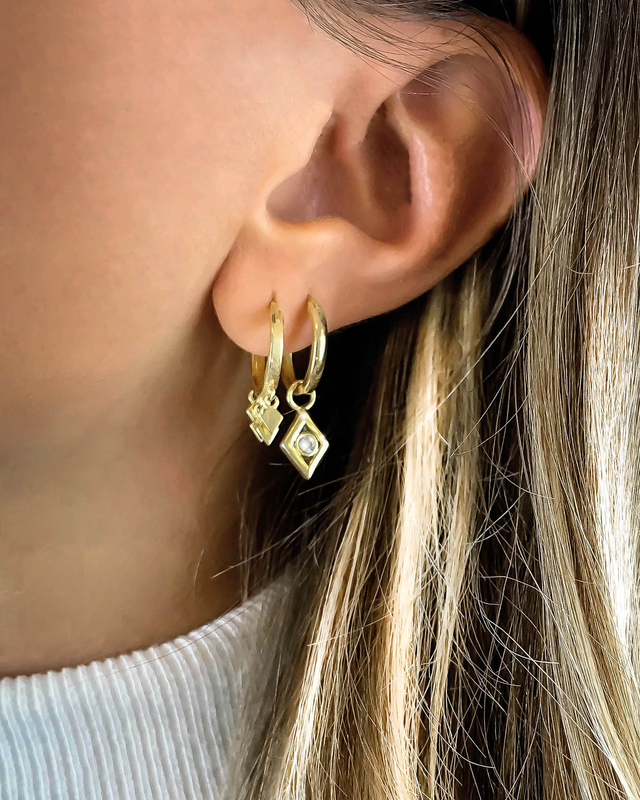 'LUCKY STAR' Earrings in Zilver