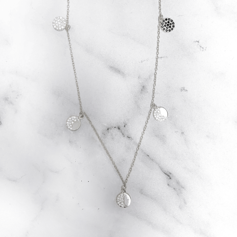 'MOON PHASE' Necklace in Zilver