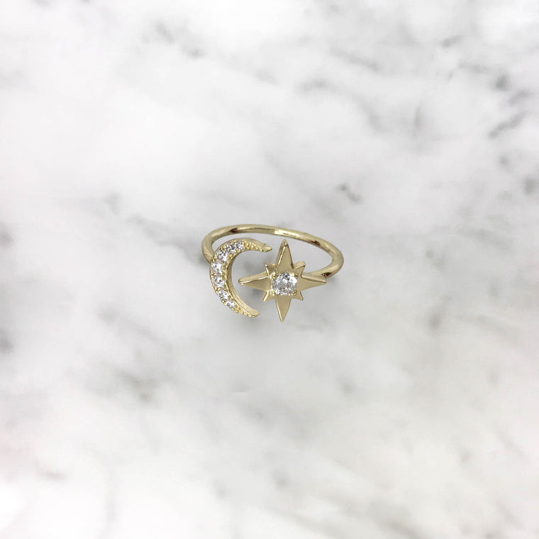 'MOON&STAR' Ring in Goud