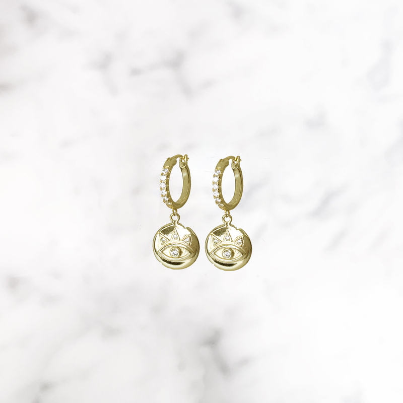 'PRINCESS OF EGYPT' Earrings in Goud