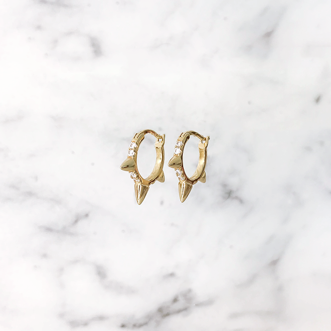 'SPIKY SPARKLE' Earrings in Goud