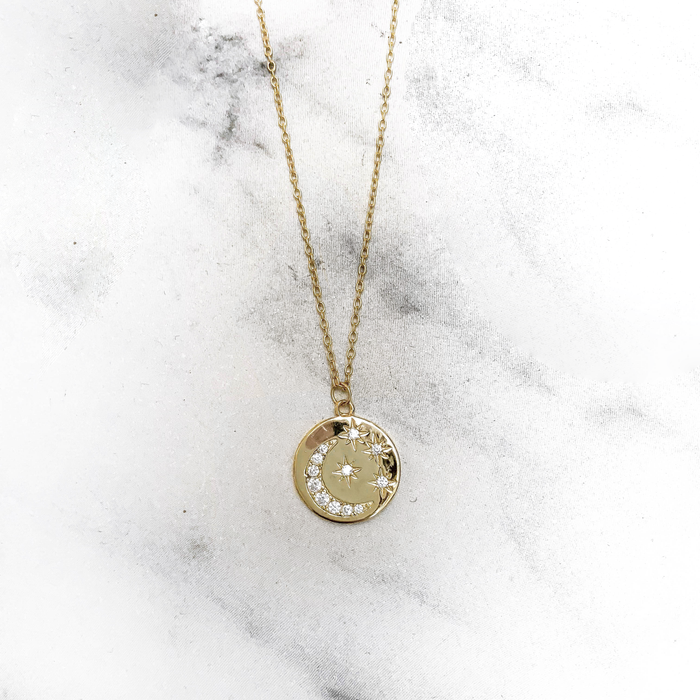 'STARRY SKY' Necklace in Goud
